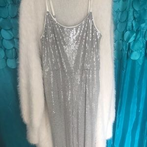 Silver sequence romper from Anthropologie!